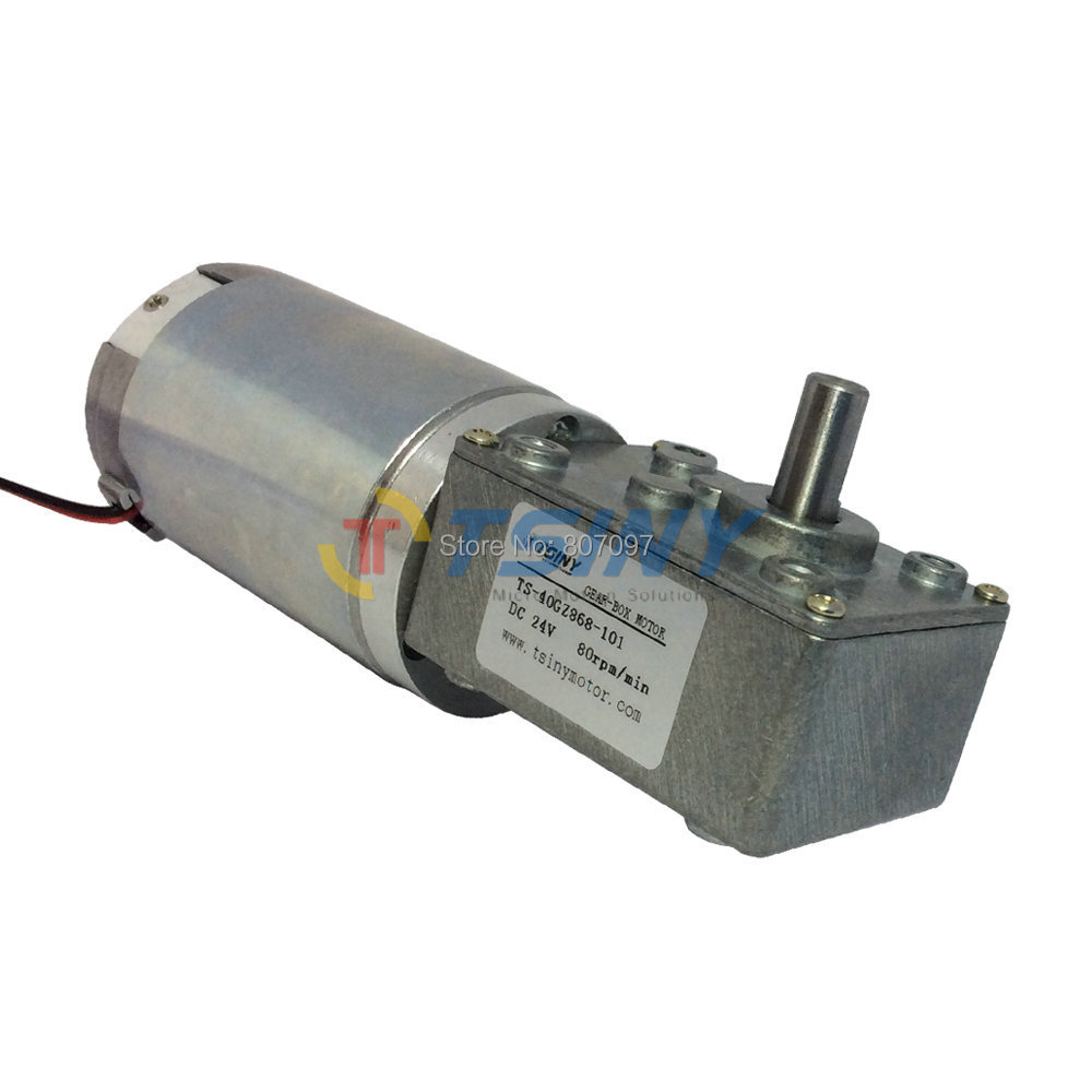 24v Metal Gear Dc Geared Motor Planetary Reduction 80rpm High Torque Electric Dc Worm Gear