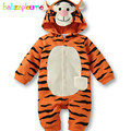0 18Months Spring Autumn Newborn Clothes Cartoon Cute Hooded Animal Jumpsuits For Baby Boys Girls Rompers