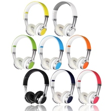 New Stylish Best Headphones Fold Stereo Surround 3.5mm Headband Headset For Samsung For HTC With Microphone(China (Mainland))
