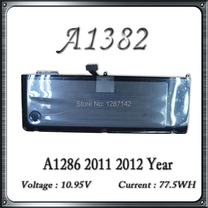 A1382 Battery For Macbook Pro A1286 Rechargeable Battery 10.95v 77.5Wh Original 2010-2012