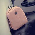 Korean style Wholesale Female student backpack bag pu leather women bag sweet College girl teenager cute