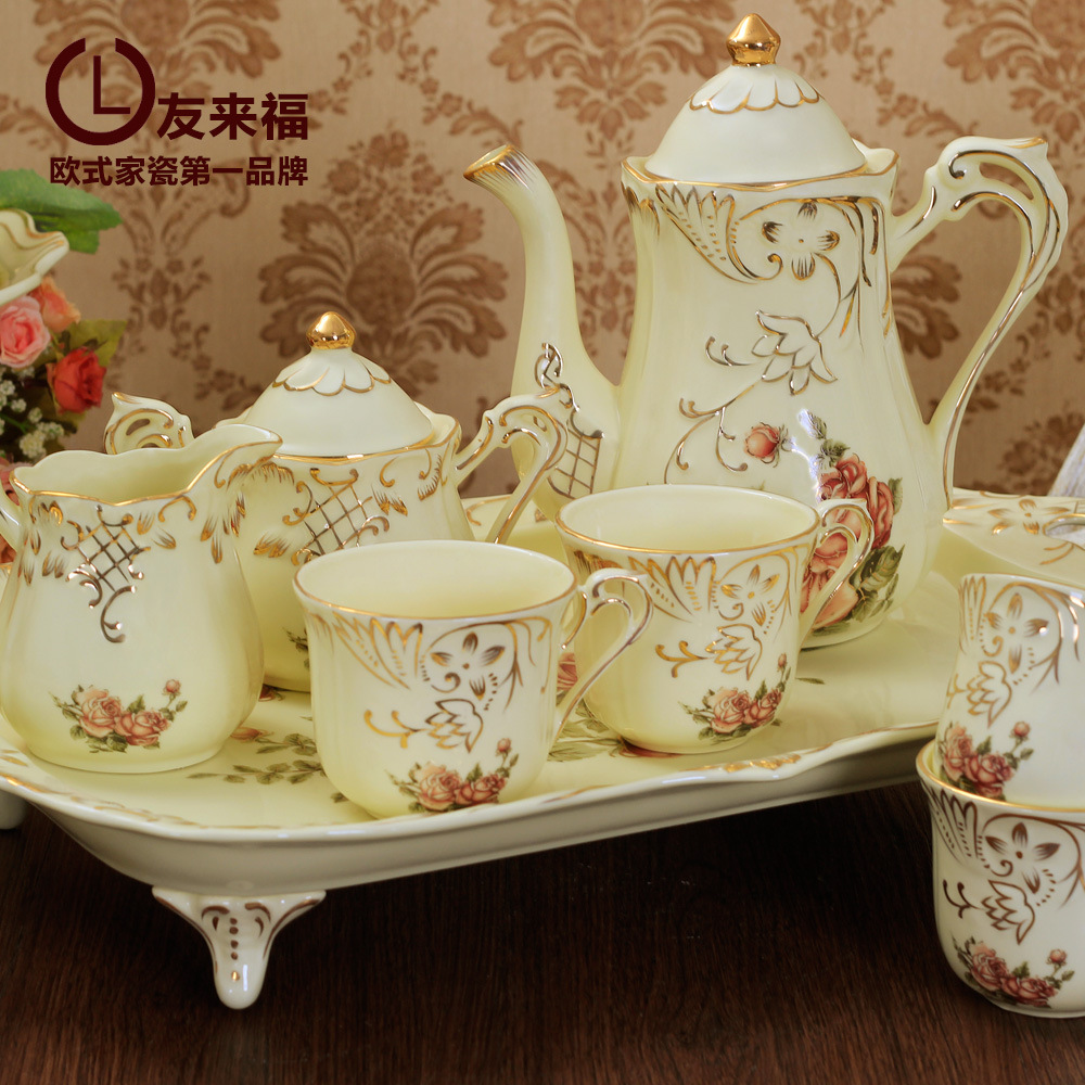 2015 coffee cup set European tea art ceramic Coffee out wedding gifts free shipping with DHL