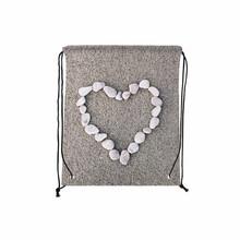 Четыре pcs/lot камень в форме сердца печатная книга мешок полиэстер шнурок сумки старинные подарочные пакеты сумки
