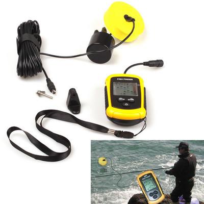 100m portable sonar sensor water depth ice fish finder for Portable fish finder ice fishing