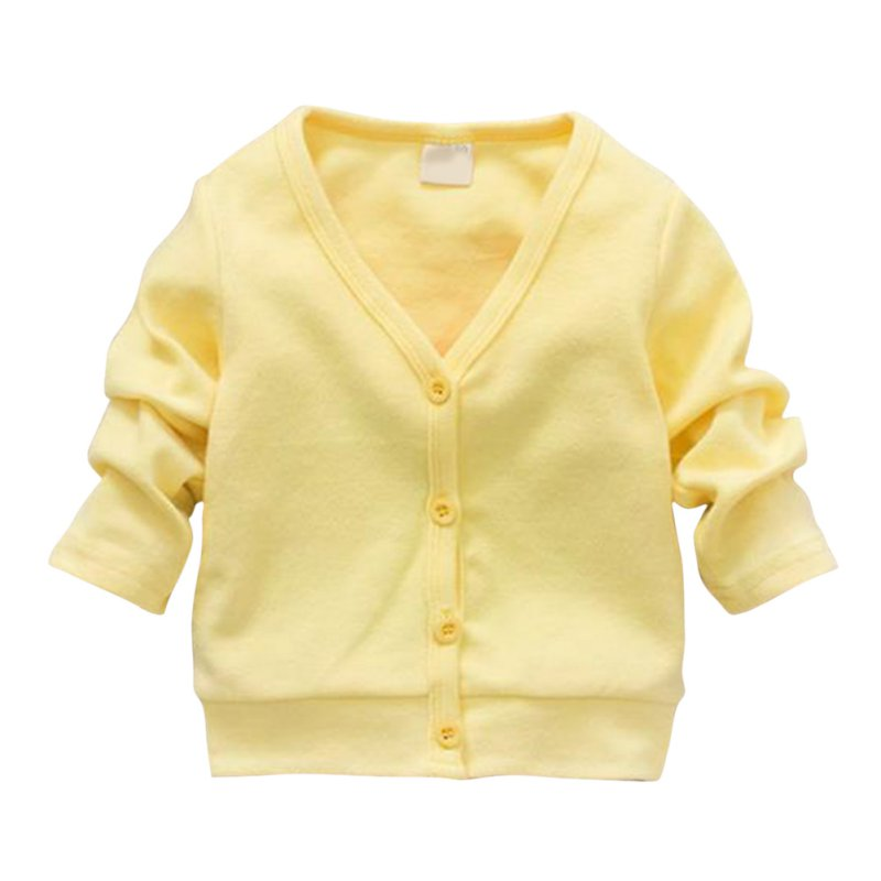 Child Boys Girls V-neck Cardigan Thick Cotton Jacket Coat Casual Comfortable SL01