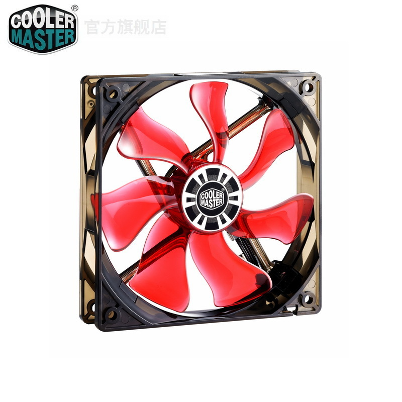 Free Shipping!!Wholesale!!Overseas selling CoolerMaster 12 cm red led temperature control chassis fan 12cm intelligent fan(China (Mainland))