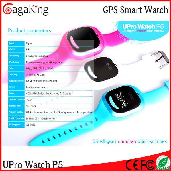 2PCS Free shipping Kids GPS watch Upro P5 GPS SOS Help Android ios GPS remote Monitoring wear smart phone Children/kids Watch(China (Mainland))