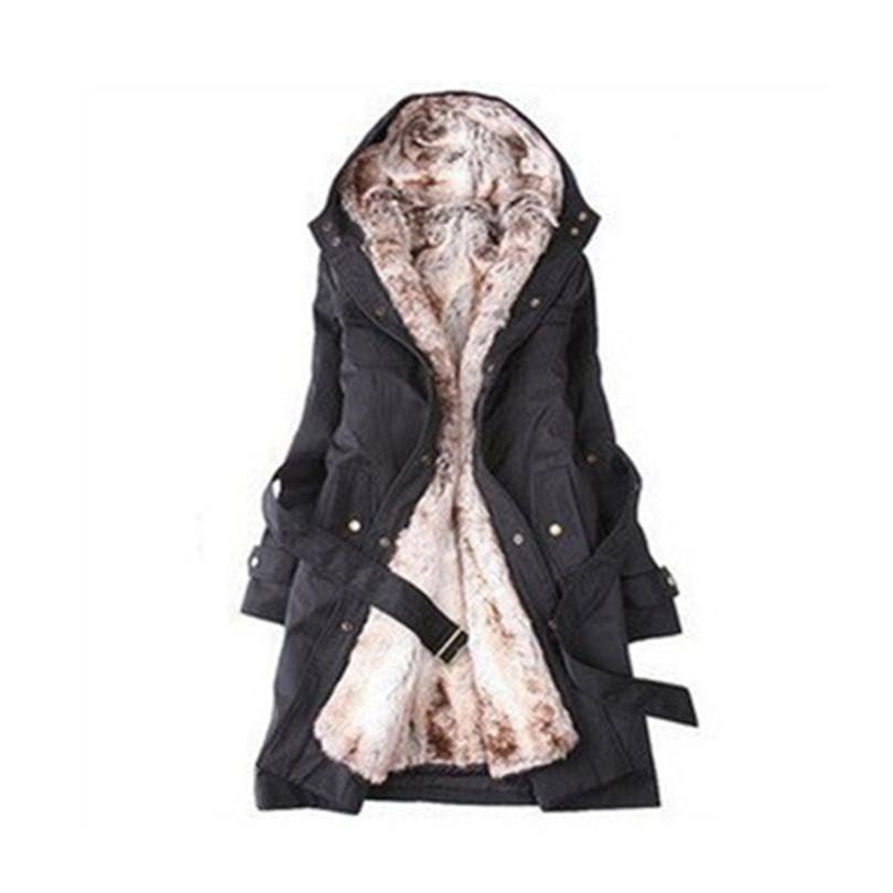 2015 Canada Faux Fur Lining Women's Hoodies Ladies Coats Winter Long Coat Jacket Cotton Clothes Parkas Manteau