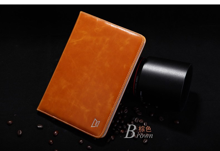 DHL Luxury Original Xuenair Wax Oil Genuine Leather Wallet Smart Cover Case for iPad Mini Other Option for iPad Air 20pcs/lot<br>