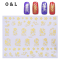 1pcs God Silver 3d Nail Art Stickers Flowers Butterfly Design Adhesive Nail Beauty Tips Decoration DIY