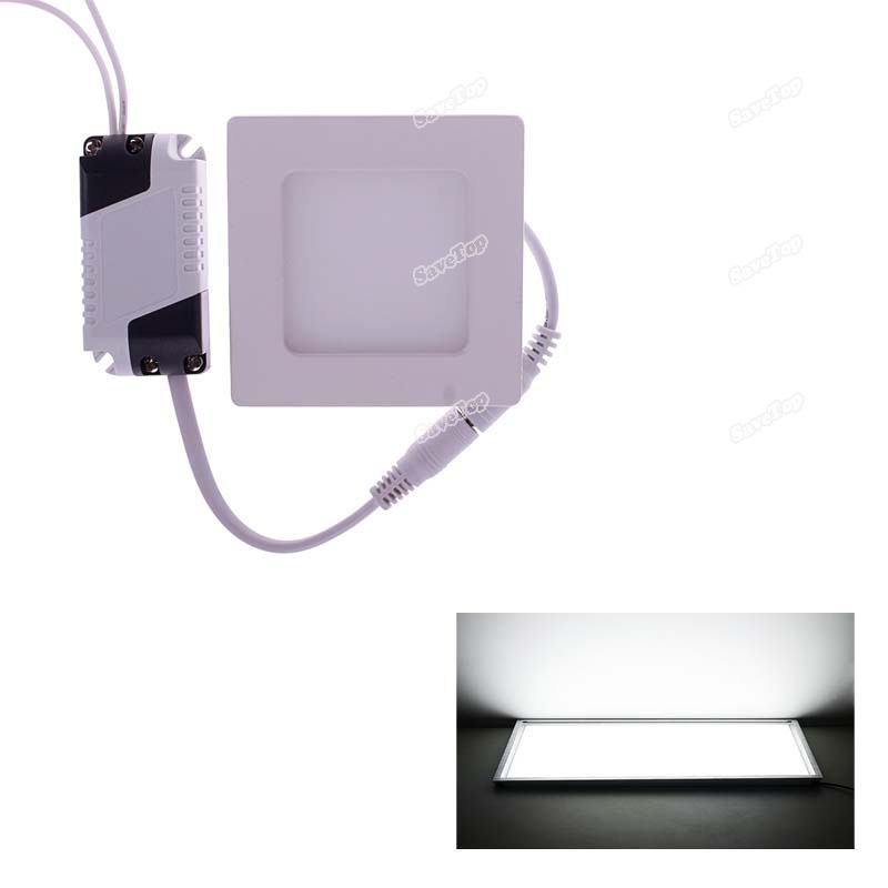 SaveTop New idea 6W CREE LED Recessed Ceiling Panel Down Light Bulb Warm Pure White Square Direct selling(China (Mainland))