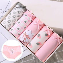 LANGSHA 5Pcs/lot Women Panties Sexy Cotton Underwear Girls Cute Printed Intimate Plus Size 4XL Briefs Lady Breathable Underpants(China)