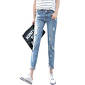 Women Jeans 2015 New Hot Sale Women s Ripped Jeans Fashion Jeans For Woman Hole Denim