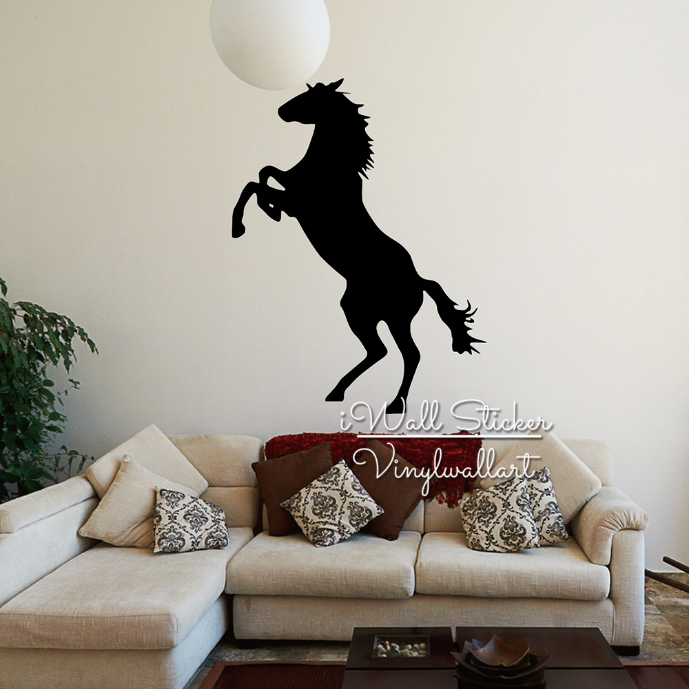 Horse wall sticker modern horse wall decal animal sticker for Horse decorations for home
