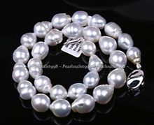 ddh001433 GENUINE AAA LUSTER SILVER GRAY SOUTH SEA PEARL NECKLACE(China (Mainland))