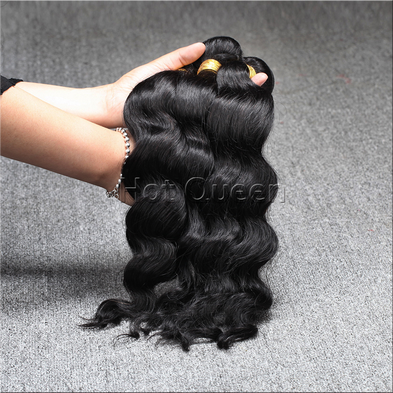 Brazilian Virgin Hair Weaves Wavy Unprocessed 6A Virgin Brazilian Human Hair Weave Wavy Bundles 3 pcs Lot Free Shipping