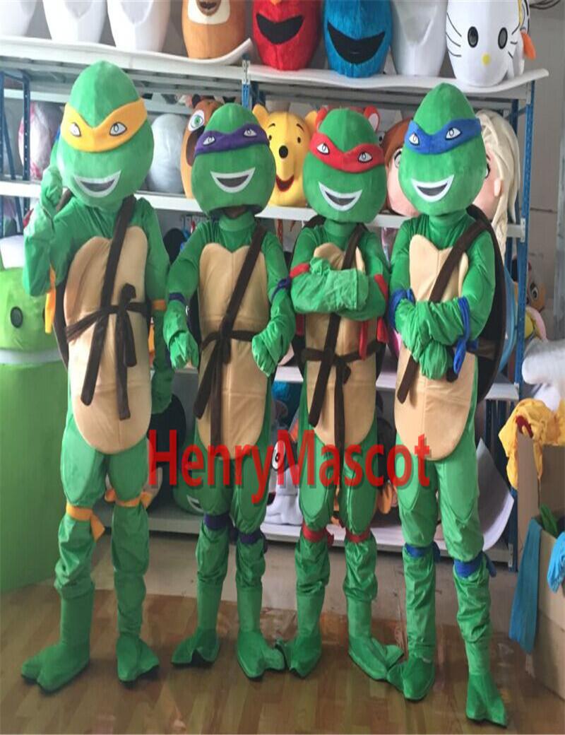 Adult Teenage Mutant Ninja Turtles Donatello Leonardo Raphael Michelangelo Mascot Costume Fancy Party Dress - DoraMall store