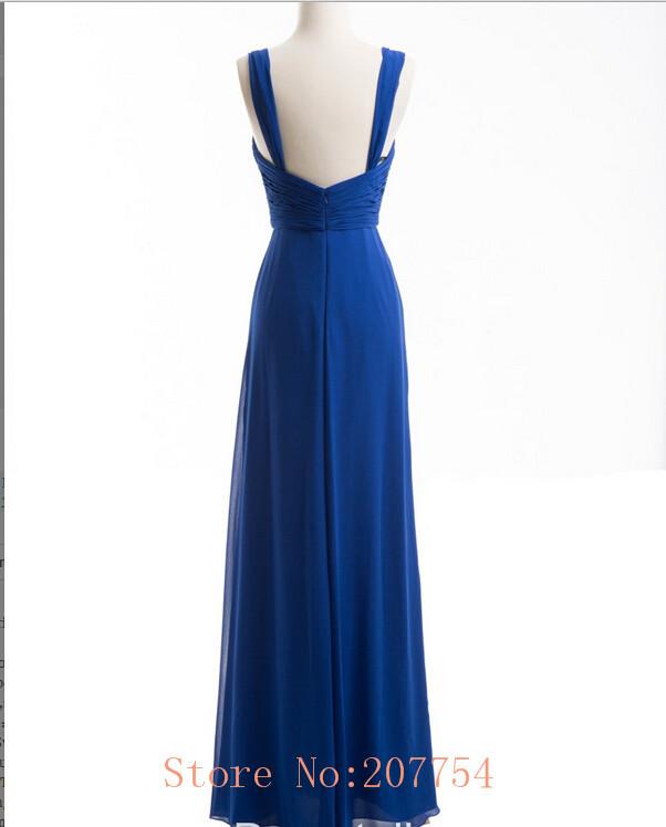 Blue Wedding Dress Simple : Royal blue bridesmaid dress simple sexy backless long wedding