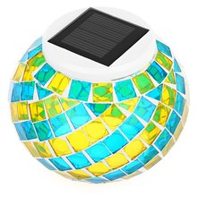Original Design LED Solar Powered Frosting Glass Ball Light Color Changing Decorative Lamp - Honey Trendy Home store