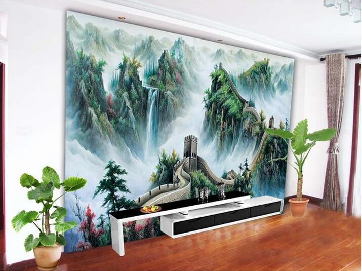 3d wallpaper custom mural non woven wall stickers great for Chinese mural wallpaper