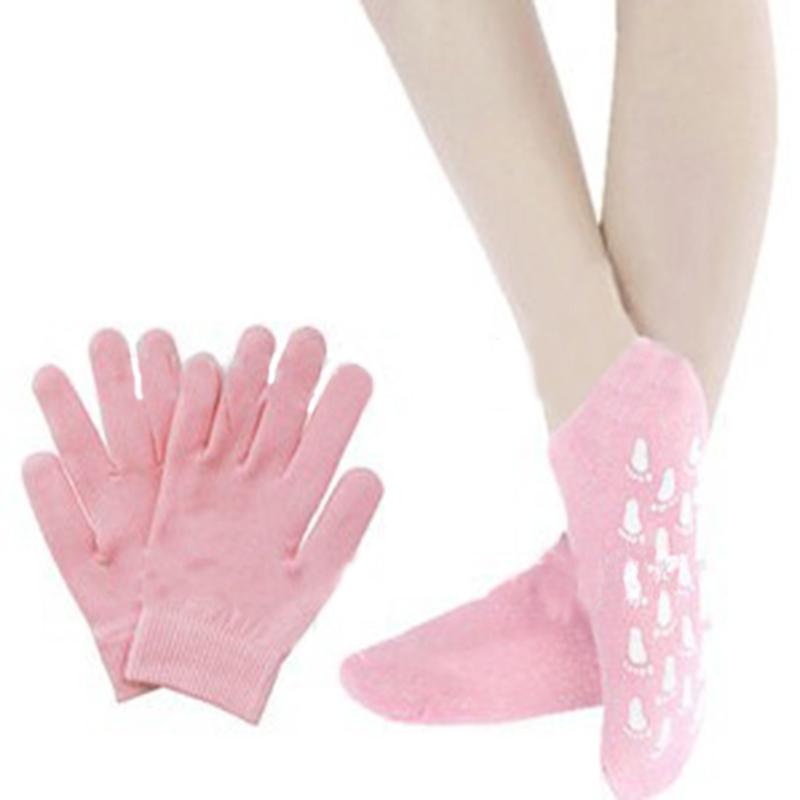 Hot- 2pairs/LOT( Moisturize Soften Repair Whiten Skin Moisturizing Treatment Gel SPA gloves and socks) Skin care Free Shipping<br><br>Aliexpress