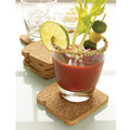 8pcs pack Toasted soft wood Cup mats pads tabletop coaster European cup toast it coasters kitchen