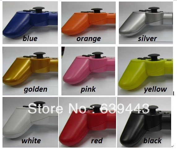 New 2014 High Quality 6 SIXAXIS Wireless Bluetooth Game Controller For PS3 11 Color Choices Free shipping(China (Mainland))