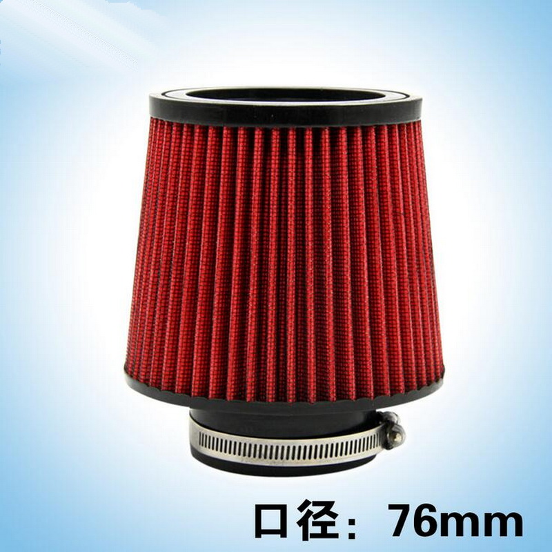 """1 PCS DIY Car style NEW 3"""" 76mm and 160mm Height Car High Flow Cone Cold Air Intake Filter Cleaner part accessories(China (Mainland))"""