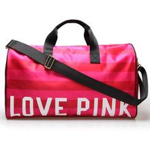 2016 Women's Brand Fringe Handbags VS Love Pink Large Capacity Travel Duffle Striped Waterproof Beach Bag Shoulder Bag Yoga Bag(China (Mainland))