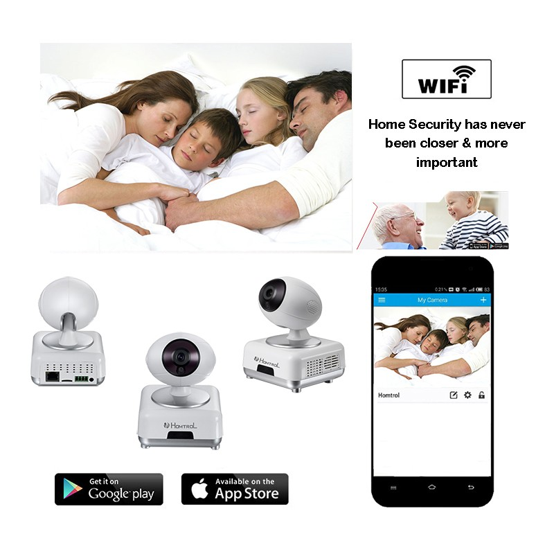 Homtrol Motion Detection and Baby Cry Sound Detection Wifi IP Camera HT-SCA8 2