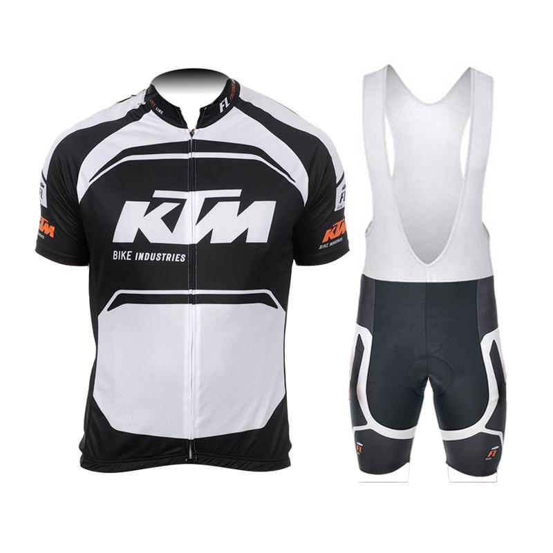 cycling jersey ktm roupa ciclismo man's short sleeves bib shorts sets black white and orange clothing cheap buy in china(China (Mainland))