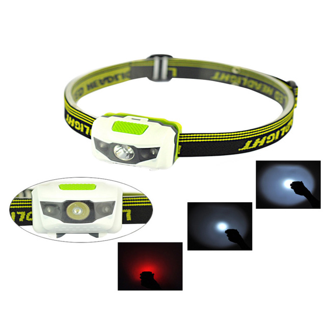 Mini Waterproof 600Lm 4 Modes LED Headlamp