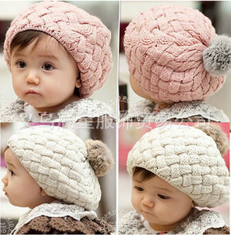 baby hat kids baby photo props beanie,faux rabbit fur gorros bebes crochet beanie toddler cap for 3 months-3 years old girl(China (Mainland))