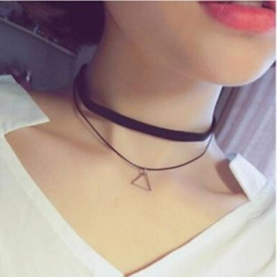 Hot New Torques Bijoux Pure Black Braided Leather Cord Necklace Maxi Statement Necklace Chokers Necklace For Women 2016 Jewelry