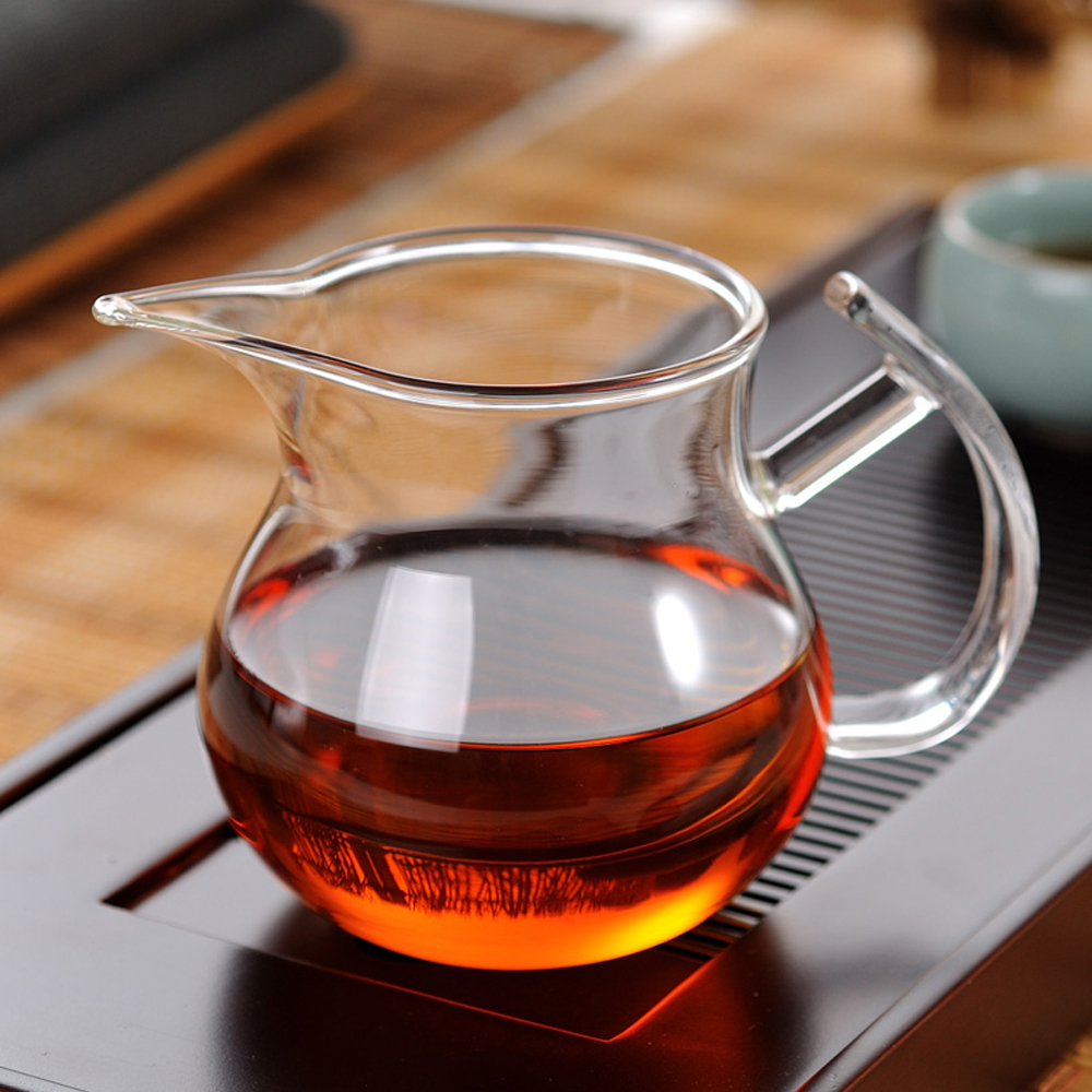 Brand new 250ml handmade heat resistant glass cup tea pitcher cups teapot floral tea sets drink - Heat proof pitcher ...