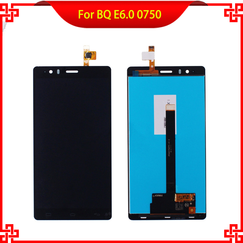 Фотография 5pc/lot LCD Display Touch Screen Digitizer Assembly For BQ Aquaris E6 E6.0 0750 Tested High Quality Mobile Phone LCDs Free Tools