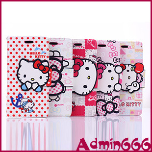 Phone Bag Cover iPhone6 New Pink Hello Kitty Bowknot Luxury Magnetic Flip Leather Case iPhone 6 Plus 5.5 Wallet Holster - Admin666's store