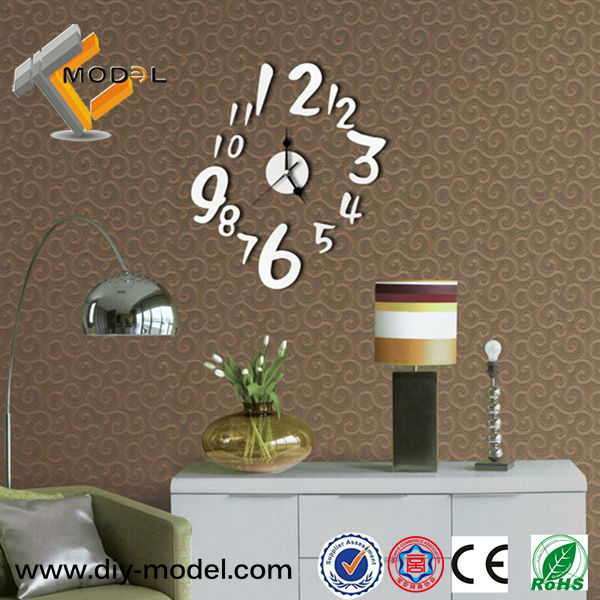 Hot sale diy mirror acrylic sticker fashion digital wall for Home decor items on sale