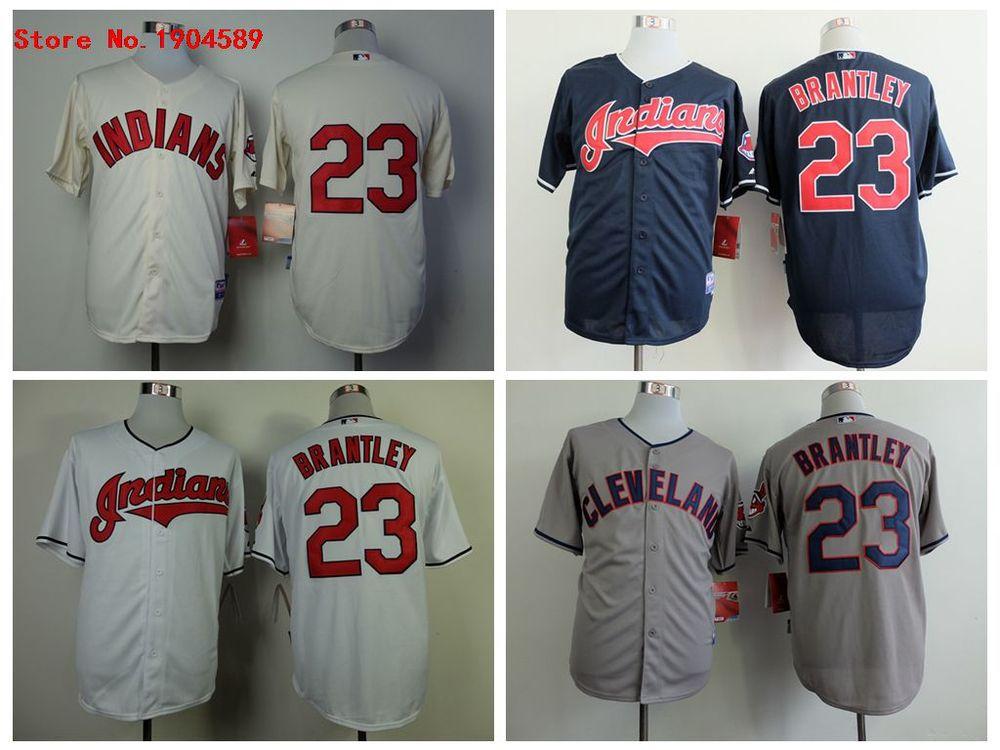 Cleveland Indians #23 Michael Brantley Baseball Jersey ...
