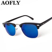 Wayfarer Clubmaster Half Metal Sunglasses Men Women Brand Designer Glasses G15 Coating Mirror Sun Glasses Fashion