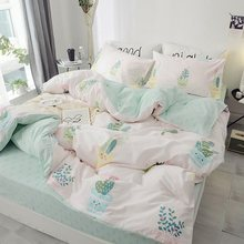 100%Cotton Twin Queen King cactus Bedding Set Kids Single Bed sheet Fitted sheet Duvet cover parrure de lit ropa/juego de cama(China)