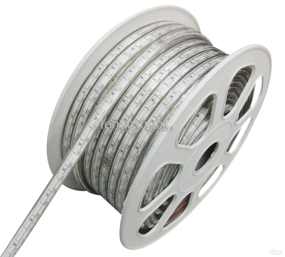 Wholesale 50m Led Strip Light 5050 Led Strips 220v White Warm White Waterproof Flexible Smd Led