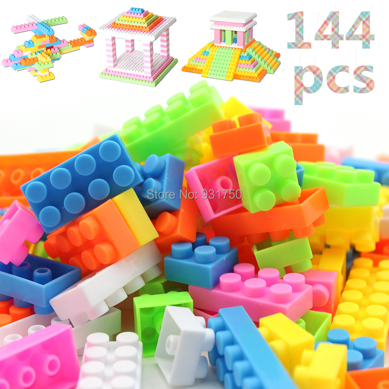 144pcs Building Blocks Toy Bricks DIY Assembling Classic Toys Early Educational Learning Toys(China (Mainland))