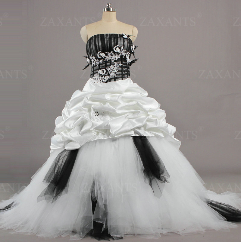 W1416 wholesale and retail online china ball gown white for Black wedding dresses online