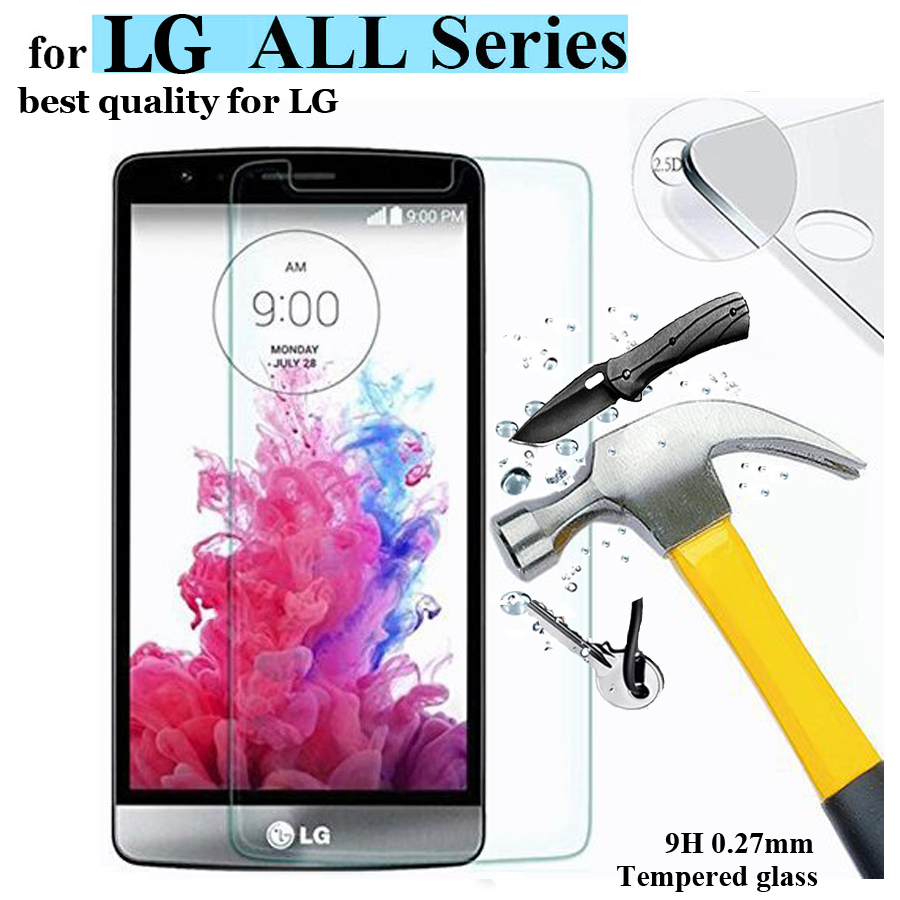 Screen Protector for LG G3 G4 Mini Stylus 9H 2.5D Tempered Glass for LG magna G4C Leon V10 Nexus 5 Spirit Protective Film Cover(China (Mainland))