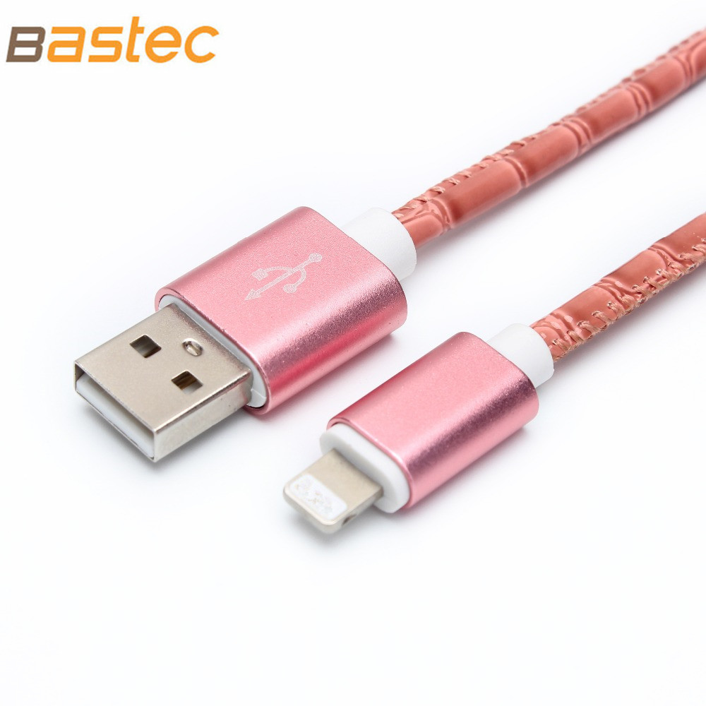 2016 Original 1m/1.5m Crocodile Grain Leather Micro USB Cable for iPhone 7 7s 6 6s Plus 5s 5 iPadmini / Samsung(China (Mainland))