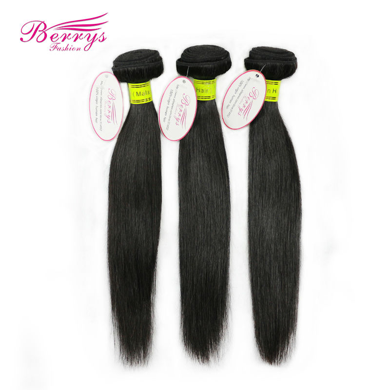 """8A Malaysian virgin hair straight weaves unprocessed hair 3pcs lot (8""""-30"""") Berrys hair natural color cheap price hair products(China (Mainland))"""