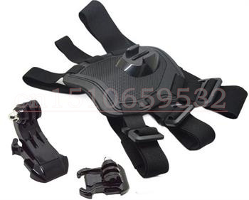 3 in 1 gorpo Dog Harness Chest Strap Belt Mount with Mounting Hardware For GoPro Hero 4 3+ Free shipping + tracking number(China (Mainland))