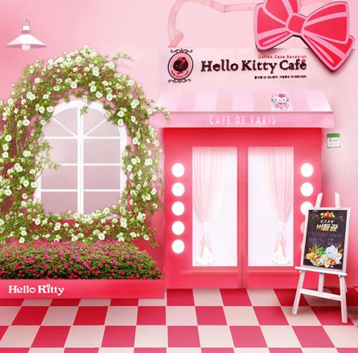 8x8FT Hello Kitty Cafe Garland Window Paris Pink Coffee Shop Checkers Custom Photo Background Studio Backdrop Vinyl 10x10 8x12(China (Mainland))