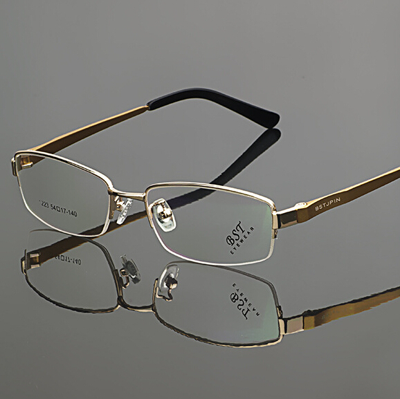 Full Rimmed Eye Glasses Frame Gold Optical Glass Frame for Men(China (Mainland))